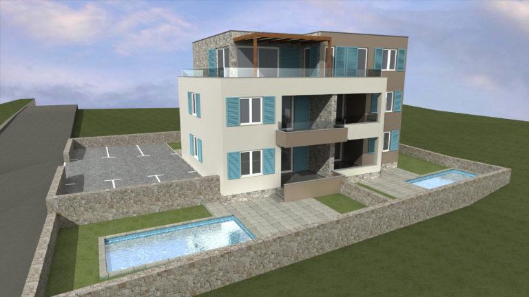 Zgrada s apartmanima Novi Vinodolski